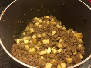 Zuppa Toscana - potatoes mixed