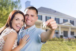 Engaged Couple Buying Home